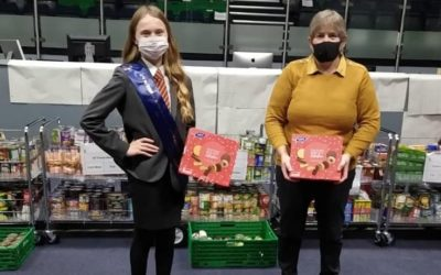 Some of our amazing finalists have been getting involved in our food drive!