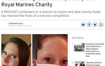 UK's National Ms Hampshire, Alexandra, has made her local headlines!